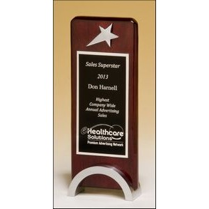 Rosewood Award w/Chrome Plated Star