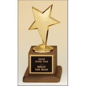 Goldstone Modern Star Award w/Walnut Base