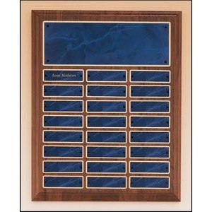 "Solid American Walnut Perpetual Plaque w/24 plates (12""x15"")"
