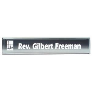 Clear Acrylic Desk Nameplate - Large