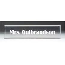 Clear Acrylic Desk Nameplate