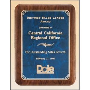Solid American walnut plaque available in three sizes and three marble finishes