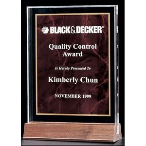 "Marble Design Series 3/4"" Thick Acrylic Award (5"") (Ruby Center)"