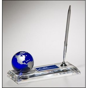 Crystal Pen Set w/Globe