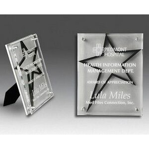 "Star Stand-out Plaque Award - Large (9""x12)"