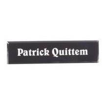 Black Acrylic Desk Nameplate - Small