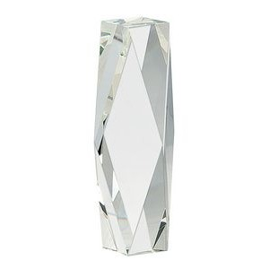 "12"" Clear Crystal Facet Tower"