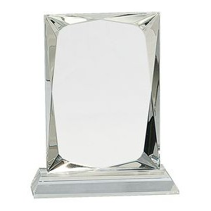 "6 1/4"" Crystal Rectangle Clear Base"