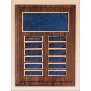 "Solid American Walnut Perpetual Plaque w/12 plates (9""x12"")"