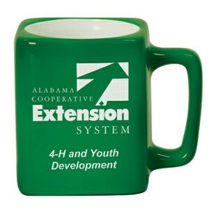 8 Oz. Green Square Ceramic Mug